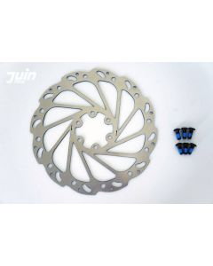 Juin Tech 160mm Wave Rotor - 6 Bolt, inc bolts