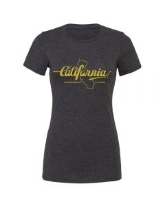 "Endurance Conspiracy | Womens ""CALIFORNIA"" T-Shirt - Heather Dark Grey"
