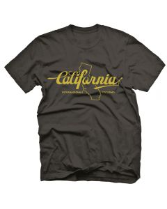 "Endurance Conspiracy | Mens ""CALIFORNIA"" T-Shirt - Heather Black"