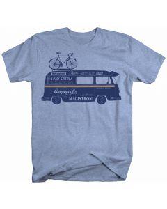 "Endurance Conspiracy | Mens ""CAMPERVAN"" T Shirt - Heather Blue"