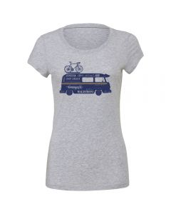 "Endurance Conspiracy | Womens ""CAMPER VAN"" T-Shirt - Heather Grey"