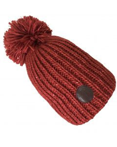 Big Bobble Hats Ltd *NEW* Autumn Red Sparkle - LIMITED EDITION - Luxury Fleece Lined Bobble Hat