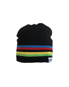 Big Bobble Hats | UCI Black Rainbow Beanie