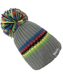 Big Bobble Hats | UCI Grey Rainbow Stripes
