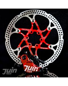 Juin Tech X1 Hydraulic Cable Pull Disc Brake Black/Red - Road | Cyclocross (CX)