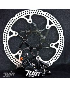 Juin Tech X1 Hydraulic Cable Pull Disc Brake Black/Black - Road | Gravel | Cyclocross (CX)