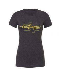"Endurance Conspiracy | Womens ""CALIFORNIA"" T-Shirt - Heather Dark Grey"
