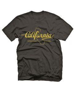 "Endurance Conspiracy | Mens ""CALIFORNIA"" T-Shirt - Heather Black"