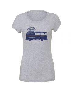 "Endurance Conspiracy | Womens ""CAMPER VAN"" T-Shirt - Heather Grey"