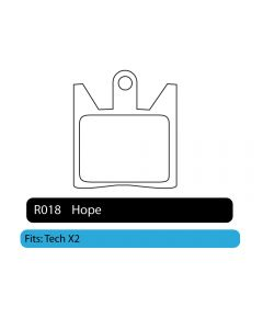 R018 - Hope | RWD Disc Brake Pads