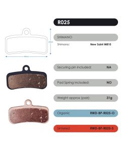 R025 - Shimano | RWD Disc Brake Pads