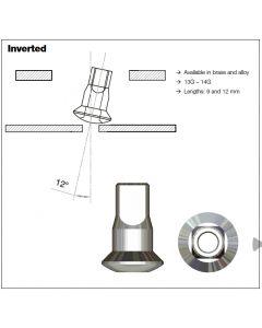 Sapim Inverted Internal Nipples | 9mm | 14G | Brass