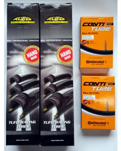 Tufo Calibra Plus - Racing Tyre - 700 x 25 - Twin Pack inc Conti tubes