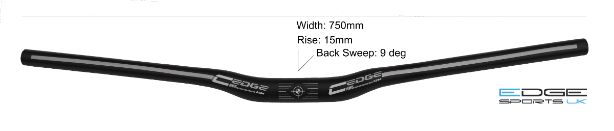 Edge Design 750mm wide carbon bar