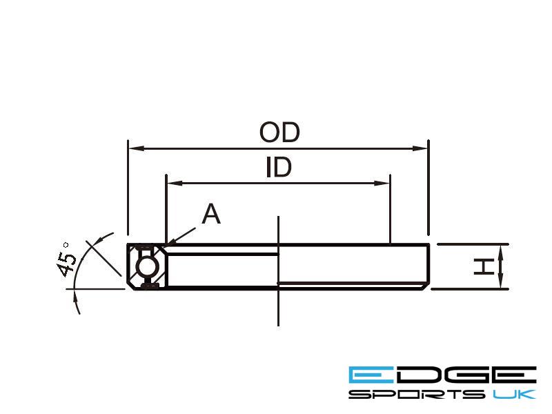 """Headset Bearing 11/4""""   OD:46xID:34.1xH:7xA:45°   ACB460H7"""
