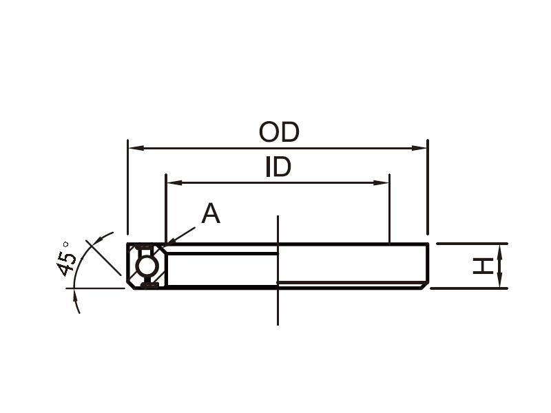 Headset Bearing OD:52 x ID:40 x H:7 x A:45°