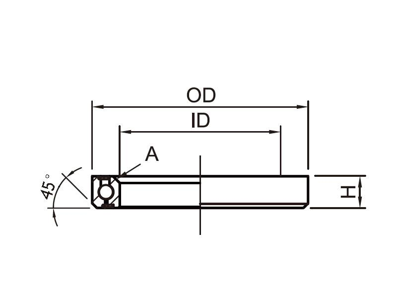 Headset Bearing OD:52 x ID:40 x H:7 x A:36°